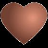 Wizerunek serca w kolorze brązu