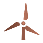 Image of a windmill in the colour bronze